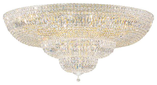 Petit Crystal Deluxe 36-Light Close To Ceiling In Rich Auerelia Gold.
