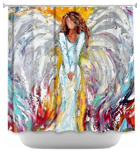 Shower Curtain Unique from DiaNoche Designs - Angel Watching Over ...