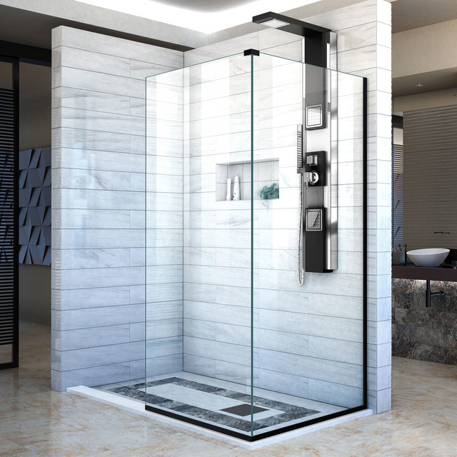 Dreamline Linea Two Shower Screens 34 W X 72 H Each Open Entry