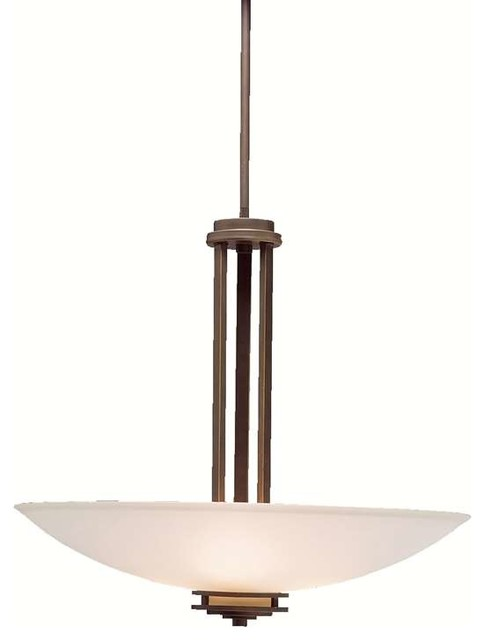 Kichler Lighting 3275oz Hendrik Contemporary Pendant Light In Olde Bronze.