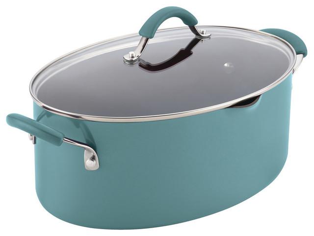 Rachael Ray Cucina Pasta Pot, Agave Blue.