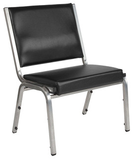 Offex Vinyl Bariatric Armless Stack Chair With Silver Vein