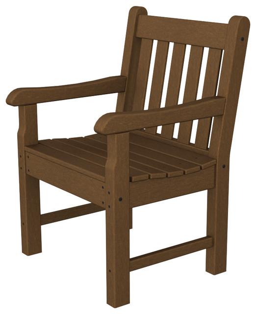 Wondrous Polywood Rockford Garden Arm Chair Teak Cjindustries Chair Design For Home Cjindustriesco