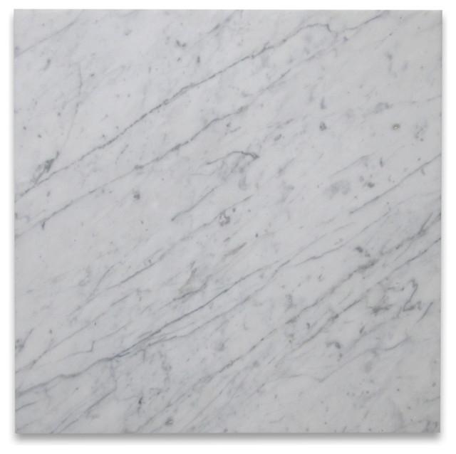 18 X18 Carrara White Marble Tile Honed Italian Bianco Carrera Set Of 88