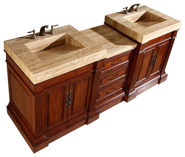 83 Traditional Double Sink Bathroom Vanity.