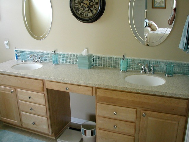 Glass Tile Backsplash traditional-bathroom