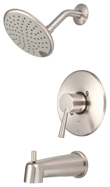 Single Handle Tub Shower Trim Set Polished Chrome