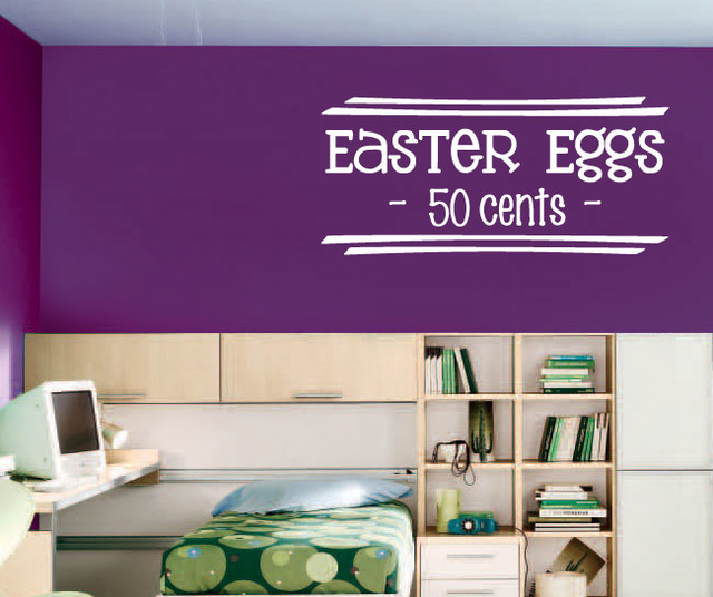 Bedroom Furniture Easter Sale: Easter Eggs 50 Cents Vinyl Wall Decal Hd080