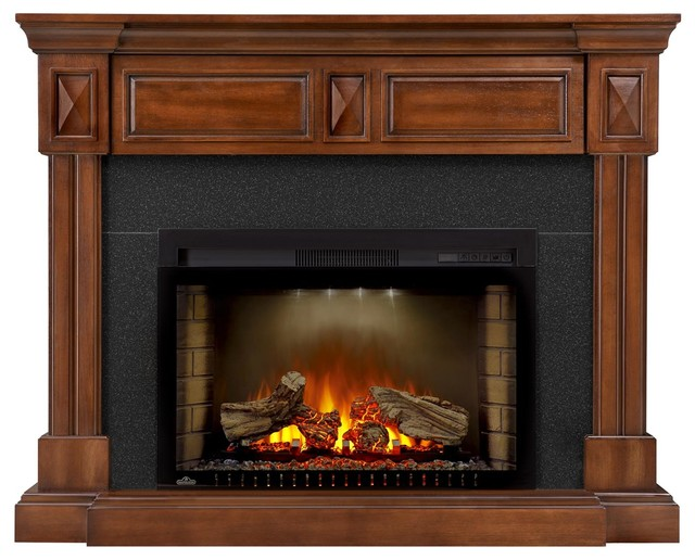 Napoleon Cinema Series Electric Fireplace With Braxton Mantel.