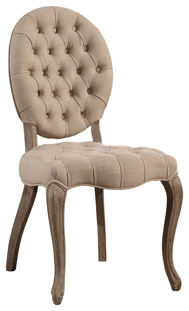 french vintage wheat tufted dining chair