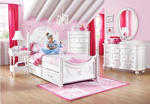 Disney Princess White Twin Poster Bedroom