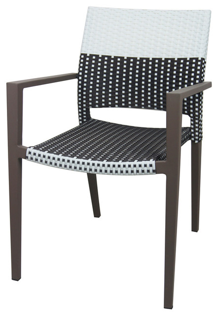Marvelous Chloe Arm Chair Black And White Espresso And White Caraccident5 Cool Chair Designs And Ideas Caraccident5Info