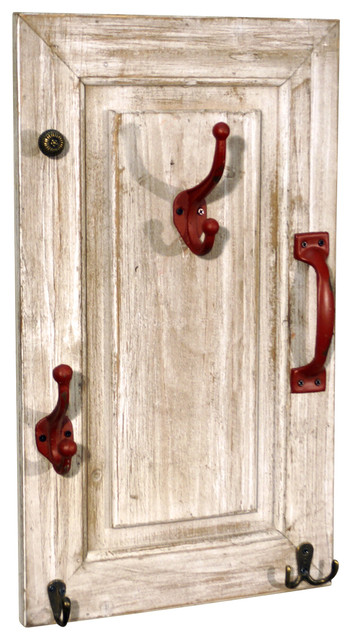 Vip International Wooden Door Coat Rack Red View In