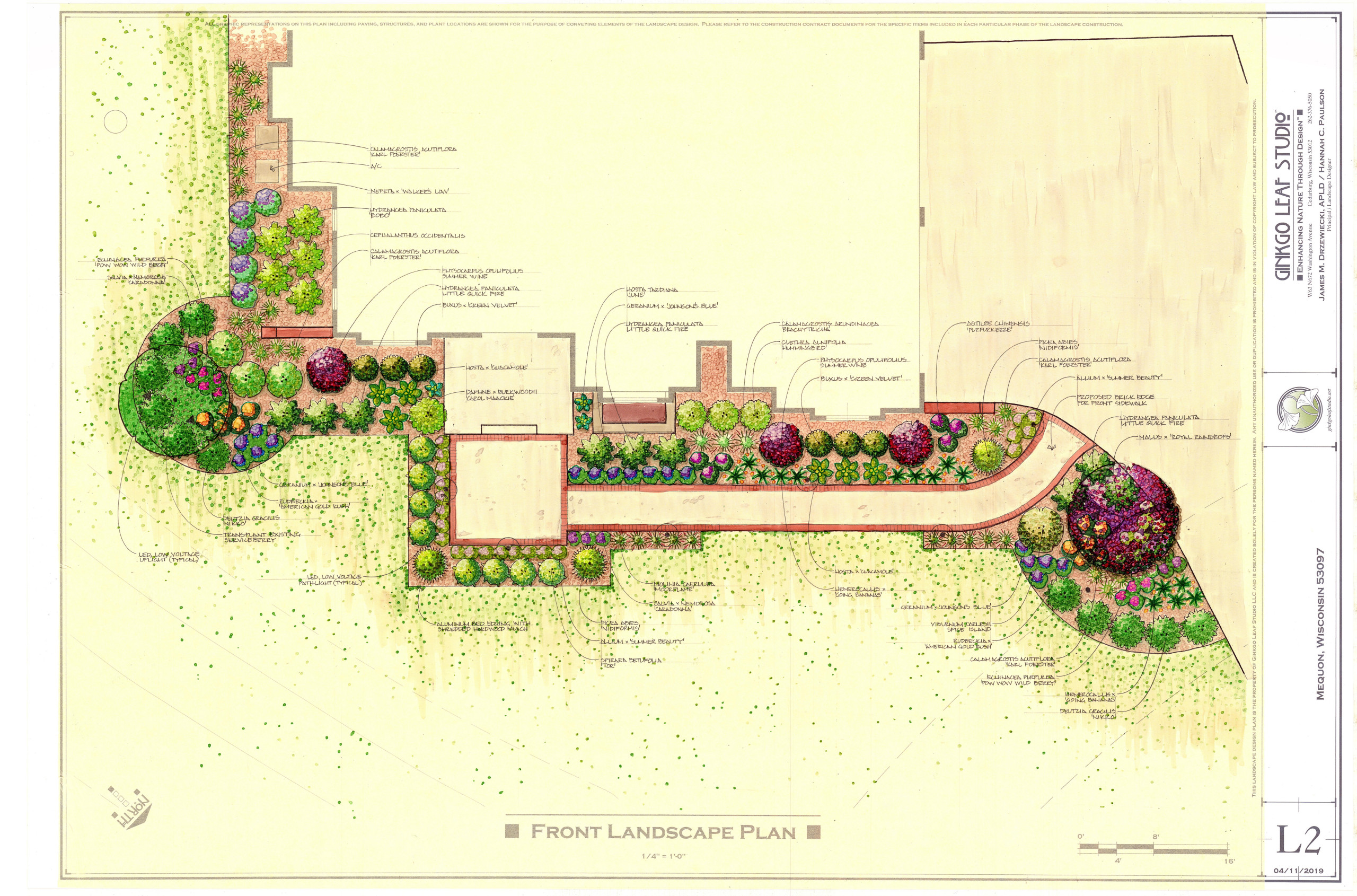 Traditional Front Landscape - Mequon