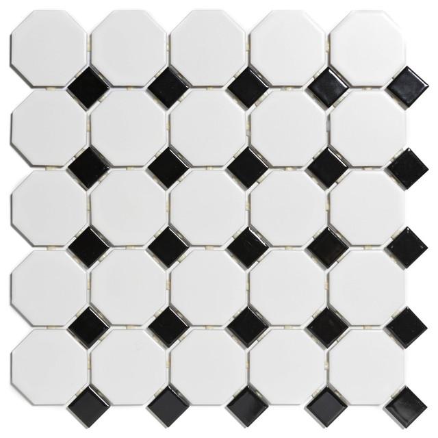 Glazed Porcelain Mosaic Paris Octagon