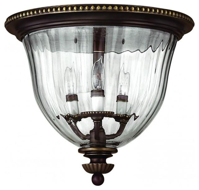 super popular eb808 d2baf Hinkley Lighting Cambridge Traditional Flush Mount Ceiling Light, Olde  Bronze