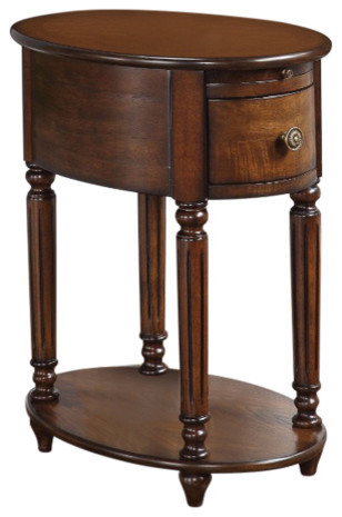 Acme Peniel Side Table, Dark Oak.