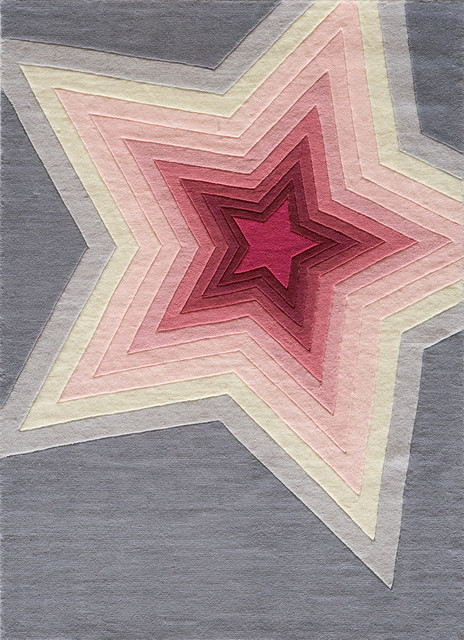 Lil Mo Hipster Polyester, Hand-Tufted Rug, Superstar, 3&x27;x5&x27;.