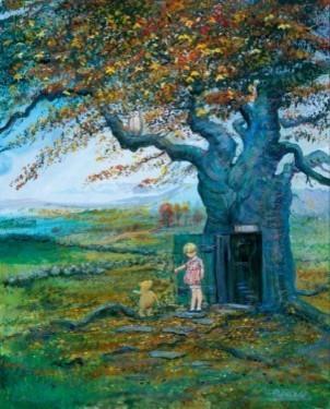 Disney Fine Art Fall In The 100 Acre Wood by Peter & Harrison Ellenshaw - Galler