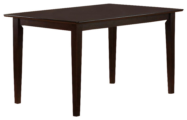 Coaster Hyde Rectangular Casual Dining Leg Table in Cappuccino ...