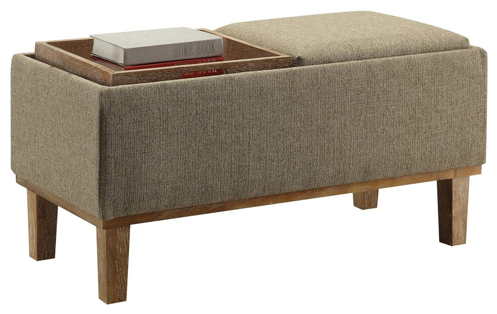 Stupendous Convenience Concepts Designs4Comfort Brentwood Ottoman In Sandstone Pdpeps Interior Chair Design Pdpepsorg