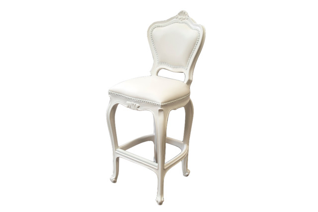 Harold Outdoor Barstool, Snow White.