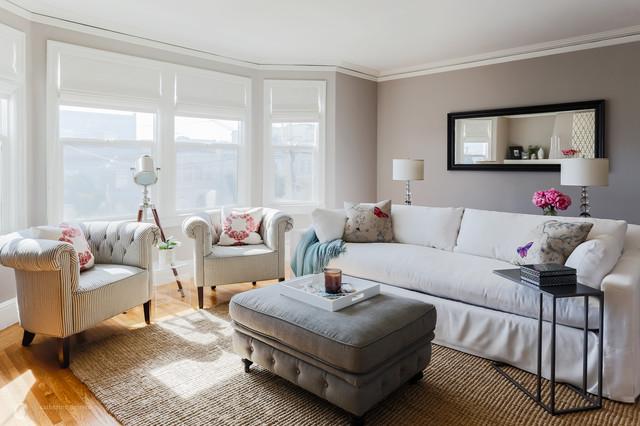Zen Inspired Refresh Transitional Living Room San
