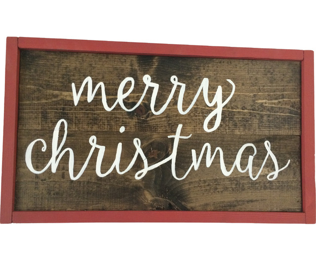 Quot merry christmas handmade wooden sign craftsman