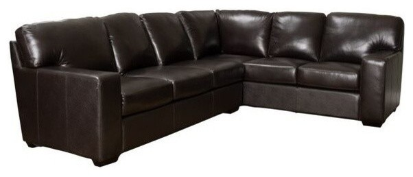GDF Studio Vanessa Top Grain L-Shaped Leather Sectional ...