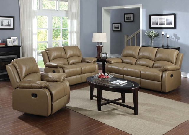 Top Grain Leather Reclining Sofa Loveseat Rocker Recliner Motion Couch
