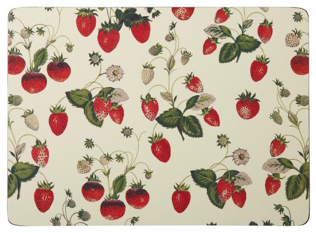 Royal Horticultural Society Strawberry Placemats Set Of 4