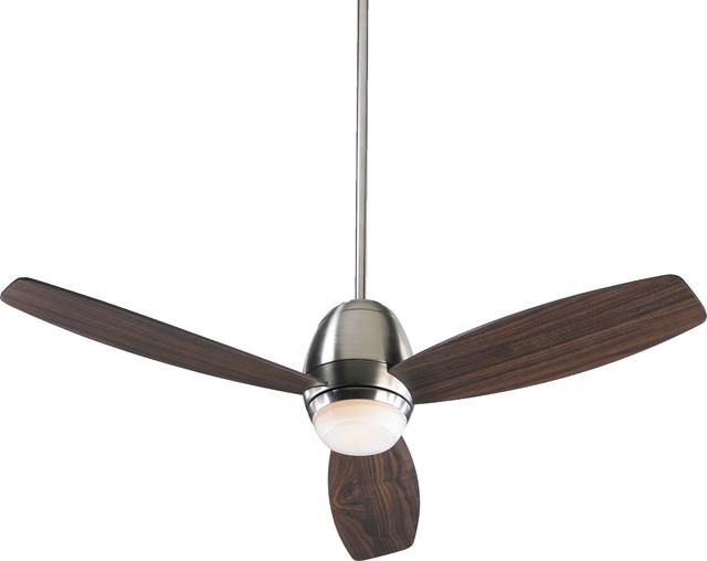 "Bronx 52"" 3-Blade Ceiling Fan, Satin Nickel"