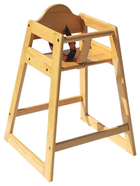 Foundations Nursery Baby Furniture Wood High Chair Natural