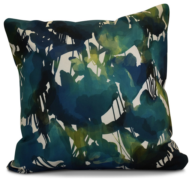Abstract Floral Contemporary Outdoor Cushions And