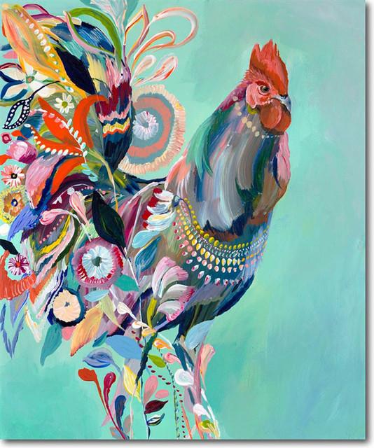 rooster artwork by starla michelle halfmann contemporary fine
