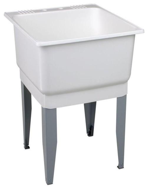 "Mustee Utilatub Utility Sink 25.2""x23.5""x15.5"", White."