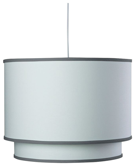 White Double Cylinder, Pewter Trim.