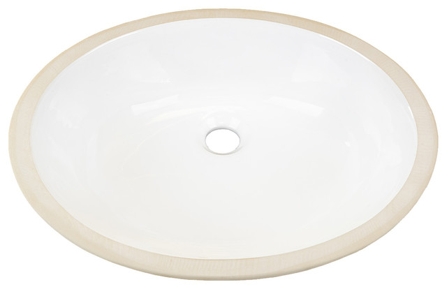 Landon Bathroom Undermount Ceramic Sink, White.