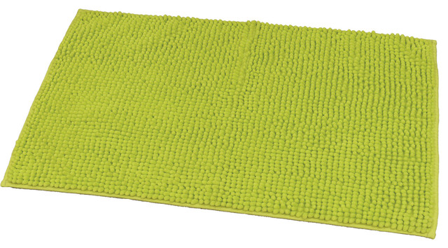 Soft Microfiber Area Rug Polyester Luxurious Mat 30 X17 Lime Green
