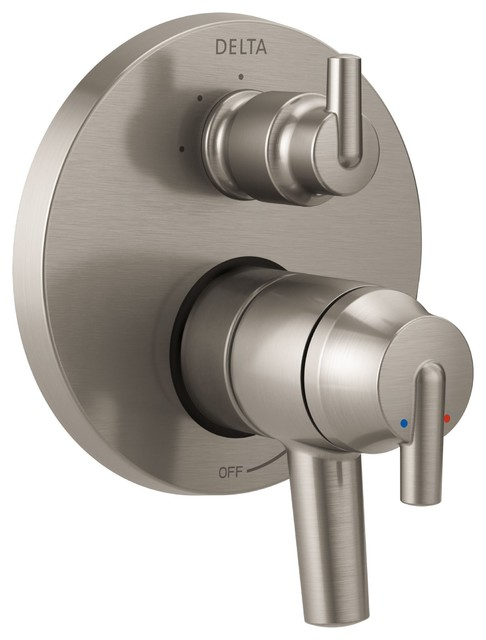 Delta Trinsic Shower Control, 3-Setting Diverter in Steel Includes ...