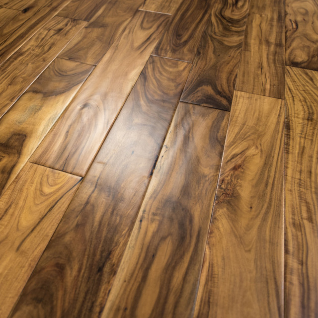 Acacia Hand Scraped Prefinished Engineered Wood Flooring Sample