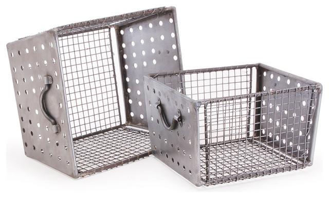Attirant Industrial Metal Storage Bins