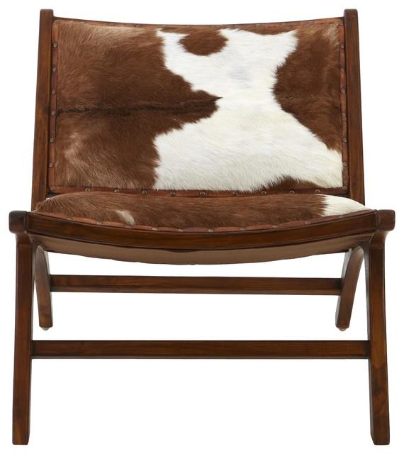 Inca Goatskin Teak Wood Accent Chair - Scandinavian - Armchairs \u0026 Accent Chairs - by Premier Housewares  sc 1 st  Houzz & Inca Goatskin Teak Wood Accent Chair - Scandinavian - Armchairs ...