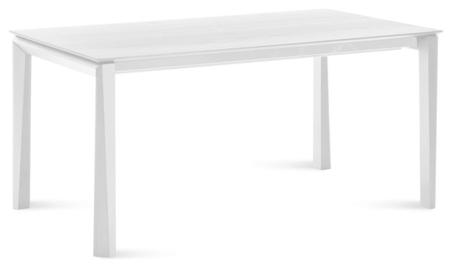 Elegant Universe 182 Rectangular Table, White Mat Lacquered Dining Tables