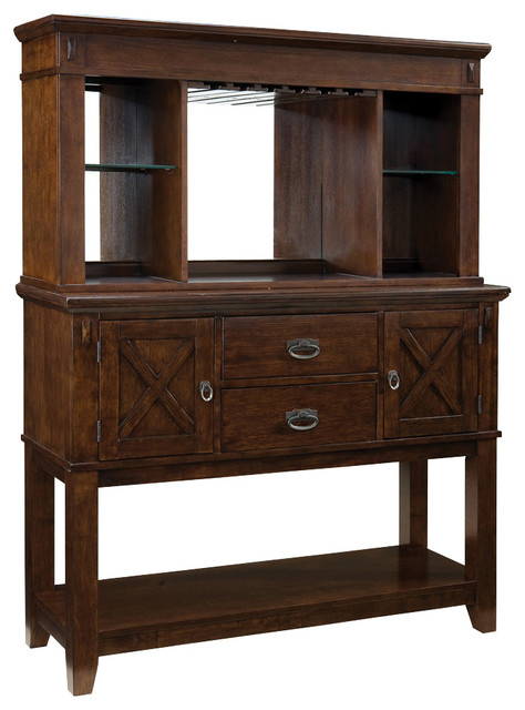 Standard Furniture Sonoma Sideboard With Hutch In Oak  Traditional Buffets And Sideboards