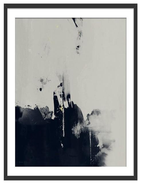 """Into The Light"" Abstract Art Print, Black Framed, 50x70 cm"