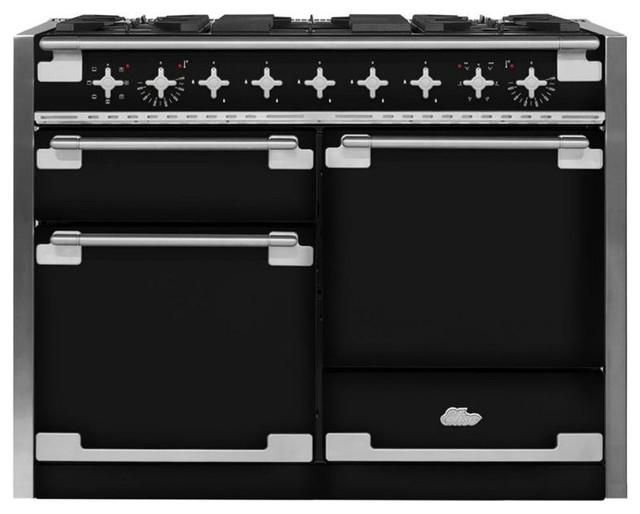 48 Aga Elise Multiple Oven Dual Fuel Range, Black.