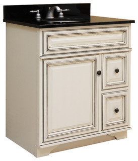 "Sanibel 24"" Assembled Vanity 1 Door 2 Drawers - Traditional - Bathroom Cabinets And Shelves - by ..."