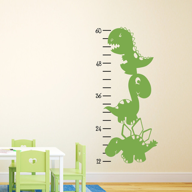 dinosaur growth chart wall decal - contemporary - growth charts -