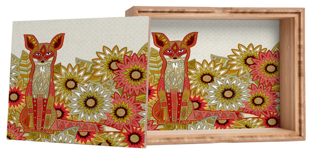 Sharon Turner Garden Fox Storage Box
